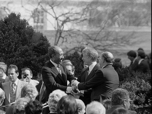 Carter Begin Sadat handshake