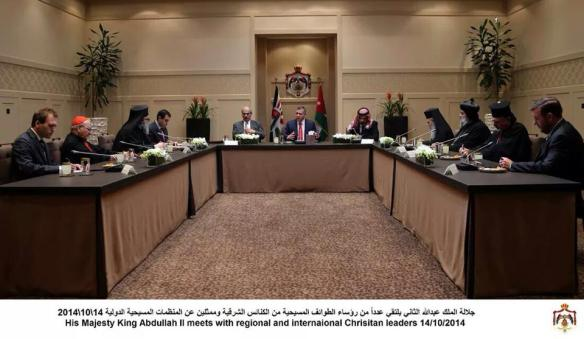 Seiple, Moore & Patriarchs meet formally with King Abdullah II