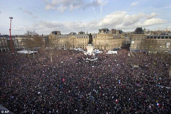 Paris march millions