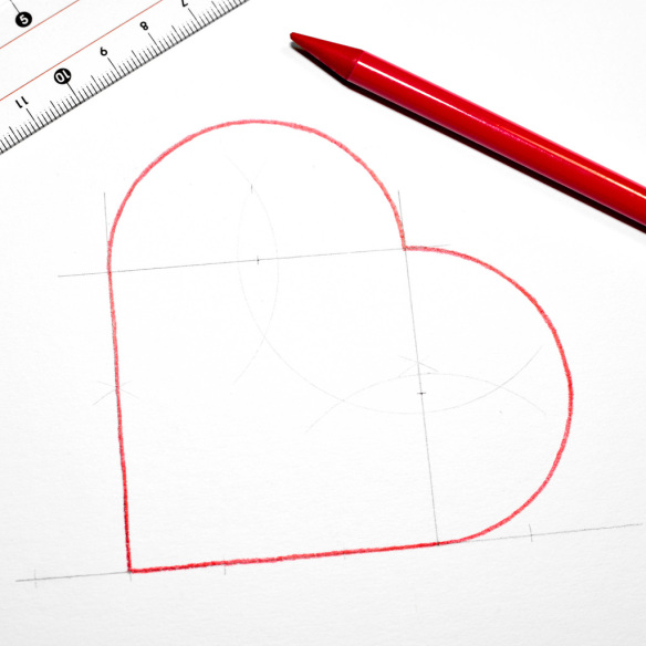 square inch with heart