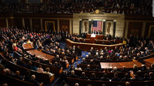 Pope Francis speaking to Congress
