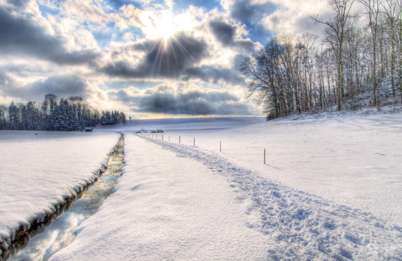 snow cover over land