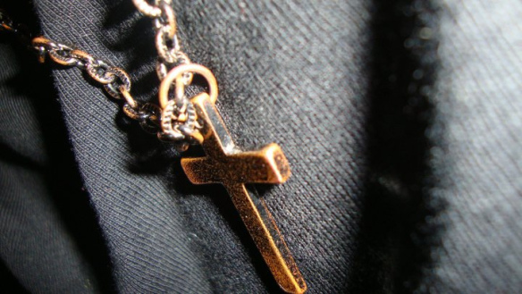 Cross on vest