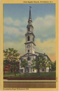 Prima biserică baptistă din America (în Providence, RH - sursa)